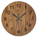 Rustic Beautiful Wood Texture Wall Clocks
