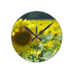 Field of Sunflowers Round Wall Clock