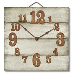 Highland Graphics 12″ Rustic Antique White Wall Clock Made in USA from Reclaimed Wood Slats