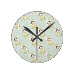 Mustache Country Rustic Baby Infant Gift Round Clock