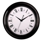 SonYo Silent Non-ticking Round Wall Clocks (12 Inches) Decorative Vintage Style Roman Numeral Clock Black