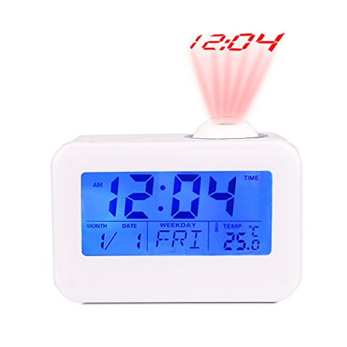 Morning Clock,Low Light Sensor Technology,Light On Backlight When Detect Low Light,Soft Light That Won't Disturb The Sleep,White
