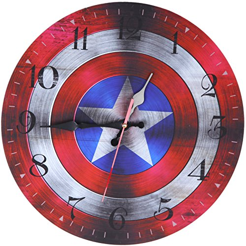 Captain America wall clock 13.5×13.5