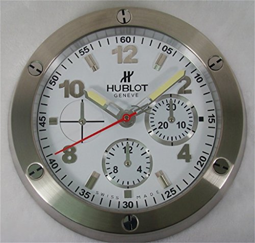 HUBLOT Silent Luminous Sweep Wall Clock Silver+White
