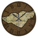 Steampunk Heart Wings Victorian Music Sheet Large Clock