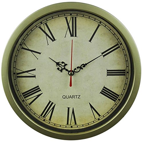 Foxtop 8 Inch Vintage Design Wall Clock Retro Style Roman Numerals Non -Ticking Silent Quiet Clock Gift for Home Decorative