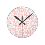 Pink Elephant Country Rustic Baby Infant Gift Round Clock