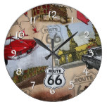Route 66 Pattern Large Clock