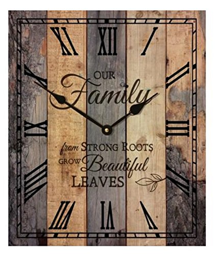 P Graham Dunn Our Family Strong Roots Wooden Wall Clock