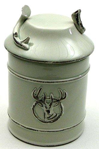 VoojoStore Ceramic Deer Goodie Jar with seal – Unique Gift For Birthday Christmas Wedding Anniversary Engagement Graduation Couples Men Women Mom Dad Grandpa Sister Wife Husband Friends