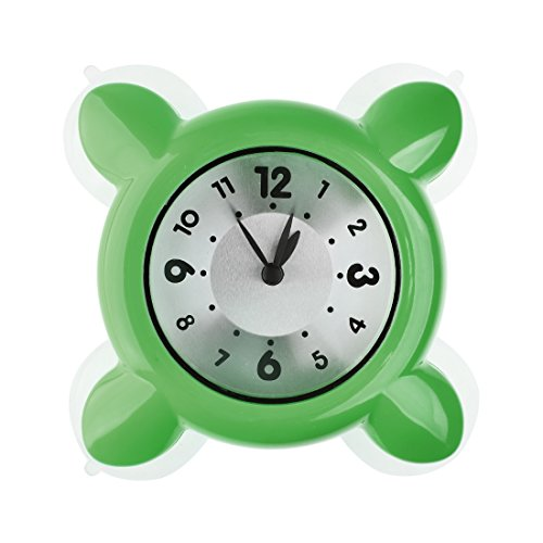 Mini Shower Clock,Glass Water Vapor Resistance Bath Clock By Hmane