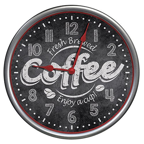 Westclox 12″ Fresh Brew Coffee Wall Clock