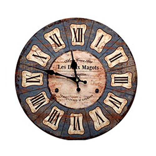 Personality Retro Wall Clock Adornment Bracket Clock Silent Bell Wall Decor H