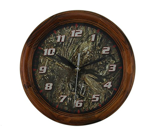 Mossy Oak Camouflage Round Wood Wall Clock 12 in.