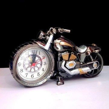 4 Colors Motorcycle Alarm Clock Watch Motorbike Home Vintage Decorative Plastic Cool Gift^.