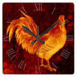 Vintage Fire Rooster Year 2017 Wall Clock
