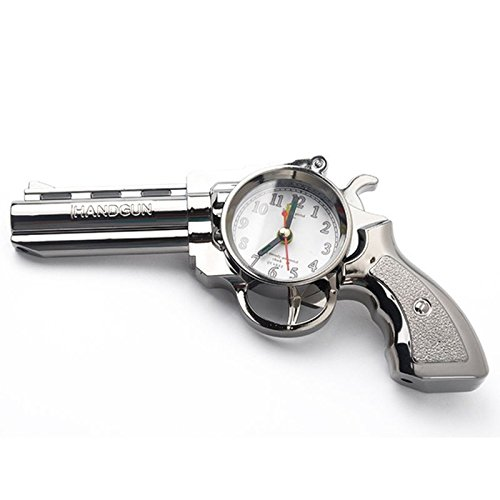 Walid-Novelty Pistol Gun Shape Alarm Clock Desk Table Home Office Decor