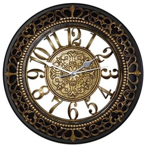 Metee: 12 Inch Silent Wall Clocks European-style Vintage Retro Antique Royal Decor Home