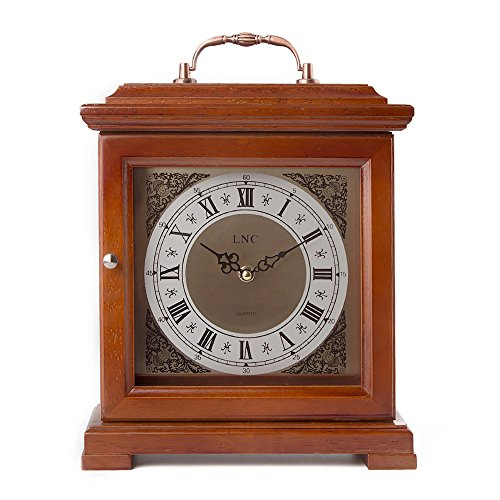 LNC Vintage Clock, Wood Portable clock