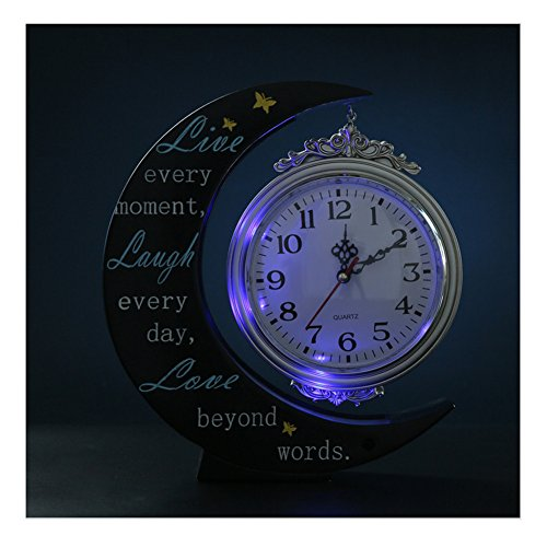 Giftgarden LED Moonlight Shelf Clock Gifts for Him, Gift for Her, Gifts for Friends