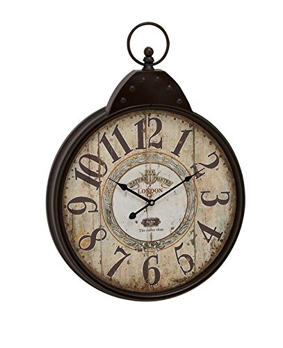 Deco 79 92217 Metal Wall Clock, 20″ x 28″