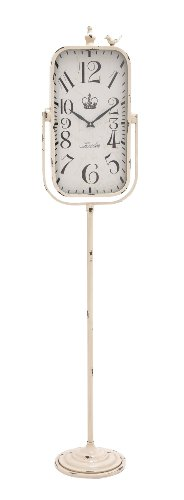 Plutus Brands The Rustic Metal Floor Clock