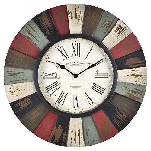 13 in H Reclaimed Burst Wall Clock