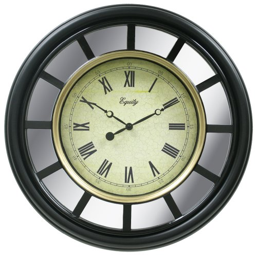 Equity by La Crosse 82009  22 Inch Black Frame Mirror Clock