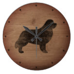 Newfoundland Silhouette Rustic Large Clock