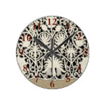Lace Antique Sophisticated Style Contemporary Round Clock