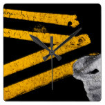 Pavement Road Traffic Marking Lines – Cool – Fun Square Wall Clock