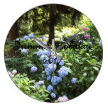 Hydrangea Floral Trees Nature Photography Large Clock