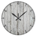 Vintage Wood Background Large Clock
