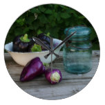Garden Fresh Peppers With Antique Jar Large Clock
