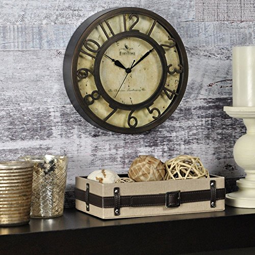 Raised Number Wall Clock – 8″ Oil Rubbed BronzeDimensions: 2″D x 8″ Diameter Weight: 1 lbs.