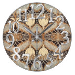 1027, Nature, Rustic, Cabin/Lodge Pattern Large Clock