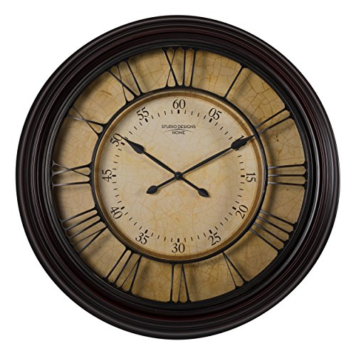 Studio Designs Home 73002 29″ Traditional Chateau Wall Clock,Espresso