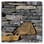 Stone Wall Square Wall Clock