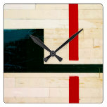 Basketball Court Lines and Markings Square Wall Clock