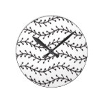 Rustic Branch Pattern Round Clock
