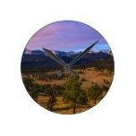 Rocky Mountain High Round Clock
