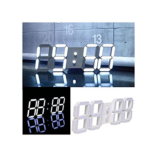 Home 3D Modern LED Display Digital Clock Wall Timer Remote Control