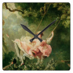 Jean-Honoré Fragonard – The Swing Square Wall Clock