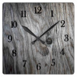 Beautiful authentic Rustic looking Reclaimed wood Square Wall Clock