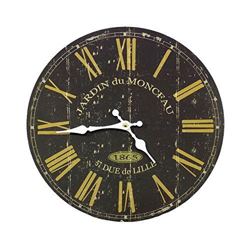 Black French Wall Clock – CL_51635 – Something Different