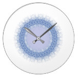 Country Blue Lace Circle Clock