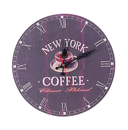 European Home Non Ticking Vintage Rustic Decorative Wall Clock Multicolor London