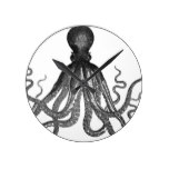 Vintage Octopus Sea Ocean Animal Round Clock
