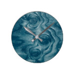 Cool Painted Wood Grain Knot Texture Round Clock