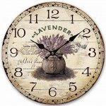 Rustic Wooden Clock, Eruner Retro Antique Style 12-inch Wall Clocks Watches Timepieces for Kitchen Wall Living Room Beauty Room Newly Decorated Office Wall Clock